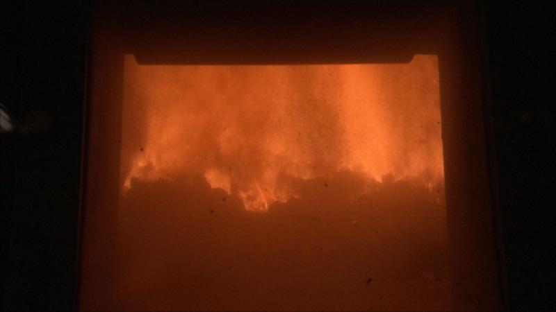 Feuer im Ofen der Müllverbrennungsanlage