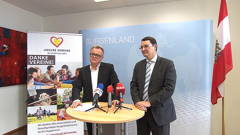 Landeshauptmann Hans Niessl und Vereinsombudsmann Wofgang Rebernig