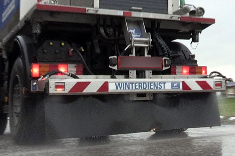 Sole Sprühfahrzeug (Streufahrzeug) im Winterdienst