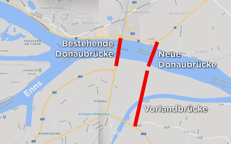 Neue Donaubrücke Mauthausen