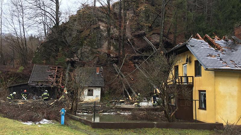 Föhnsturm Bad Eisenkappel Schäden