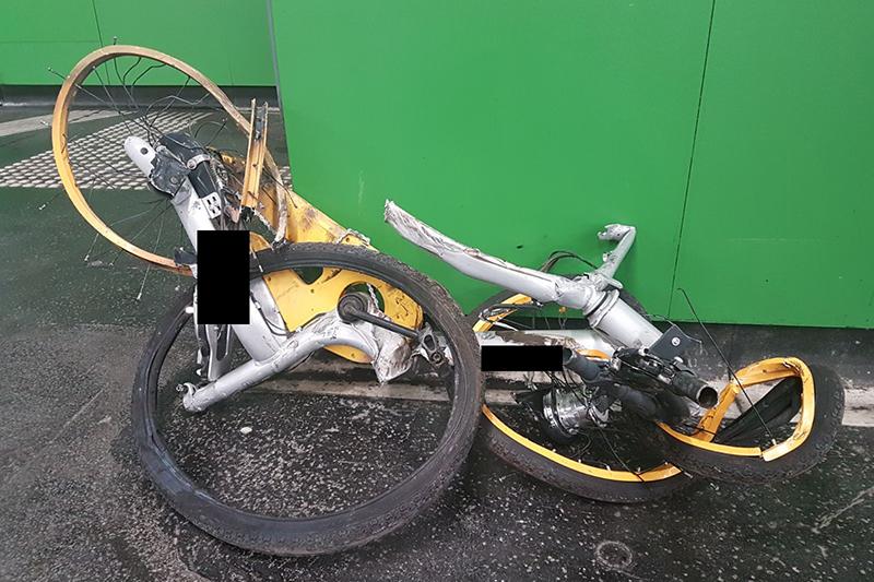 O-Bike auf U-Bahn