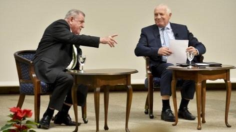 Václav Klaus a Vladimír Mečiar (vlevo)