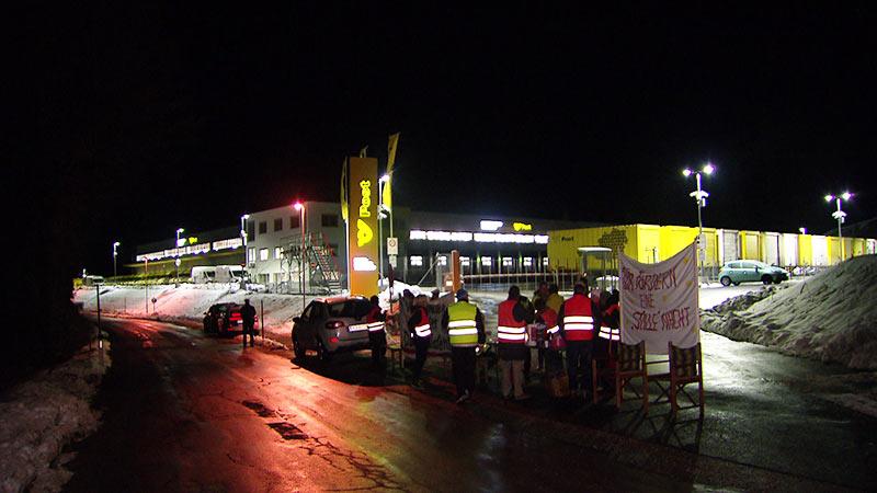 Postverteilerzentrum Wernberg Protest Bürger Lärm Helligkeit