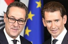 Heinz Christian Strache Sebastian Kurz Regierungsbildung in Wien