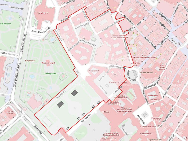 Platzverbot - 18.12.2017 - im Bereich des Ballhausplatzes, der Hofburg und des Minoritenplatzes