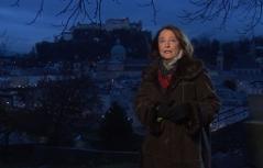 Renate Lachinger vor der Kulisse der Altstadt