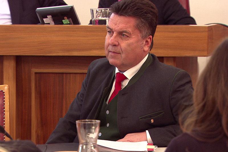 Landesrat Hans Mayr im Salzburger Landtag