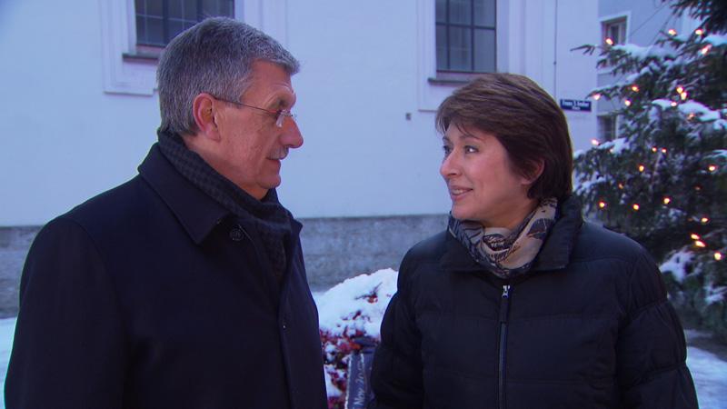 Kulturstadträtin Sampl-Schiestl und Bürgermeister Schröder
