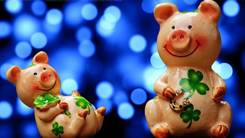 Schwein Glücksbringer Silvester