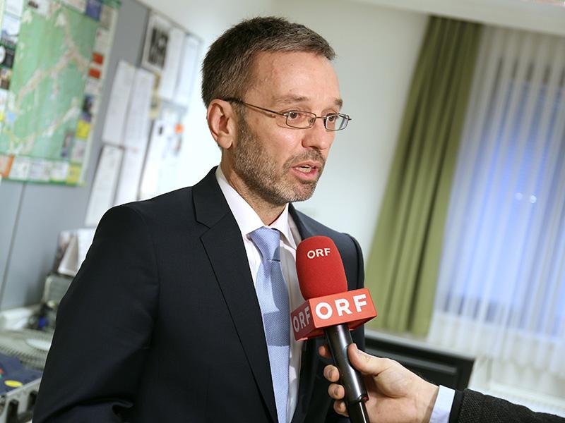 Innenminister Herbert Kickl zu Besuch in der Polizeiinspektion Purkersdorf