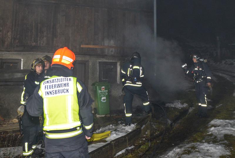 Feuerwehreinsatz bei Brand