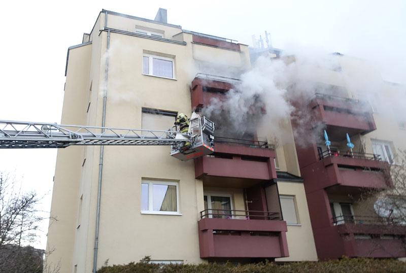 Brand in Linz-Auwiesen