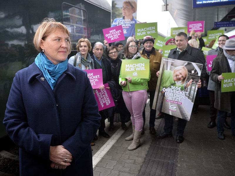 Grüne Wahlkampf Auftakt Helga Krismer