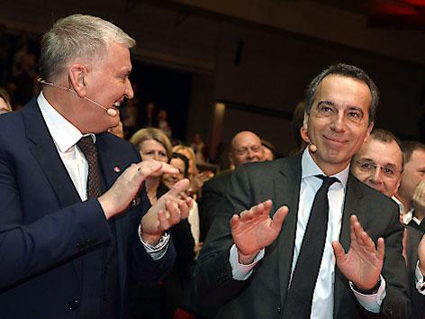 SPÖ Wahlkampfauftakt Kern Schnabl