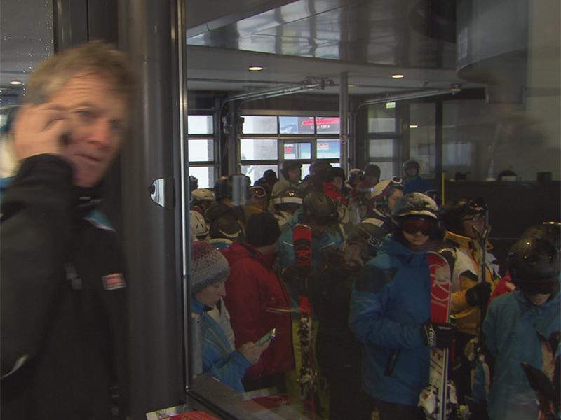 Sturm im Skigebiet Saalbach