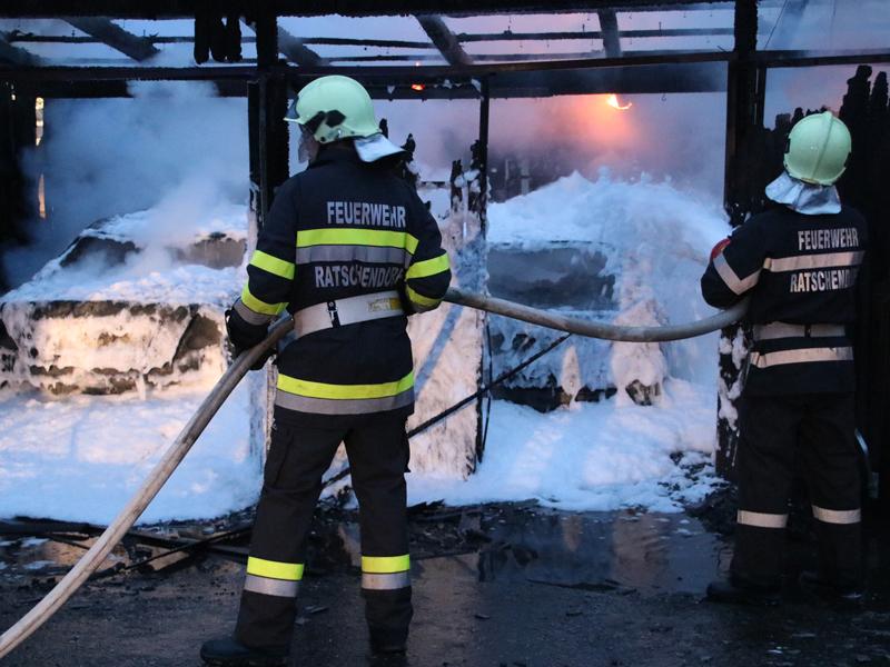 Brand Wirtschaftsgebäude Ratschendorf