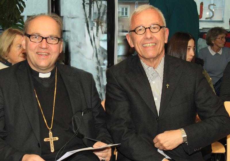 Bischof Hermann Glettler und Propst Florian Huber