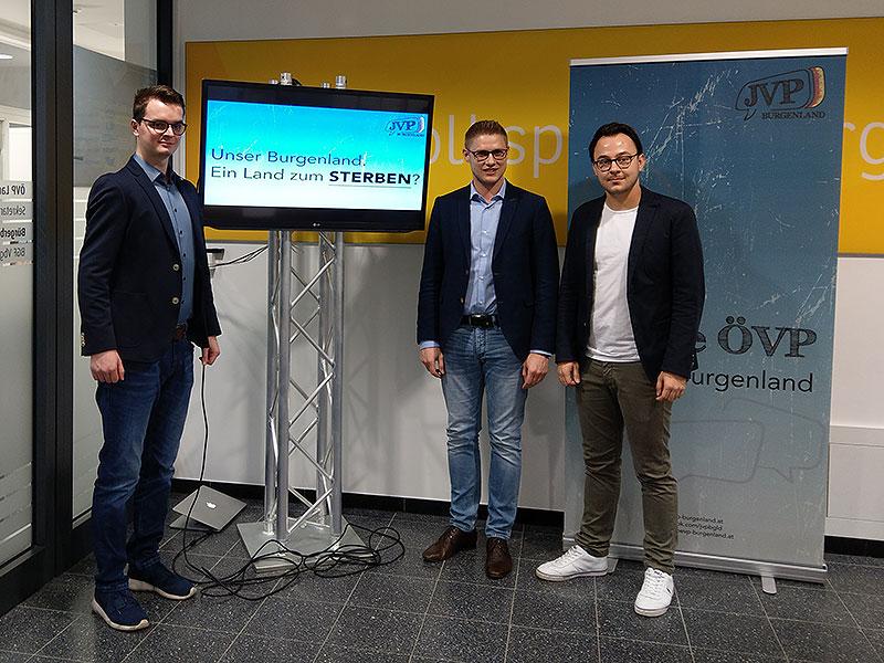 JVP Burgenland, v. l. n. r. :  Dominik Reiter, Patrik Fazekas, Sebastian Steiner