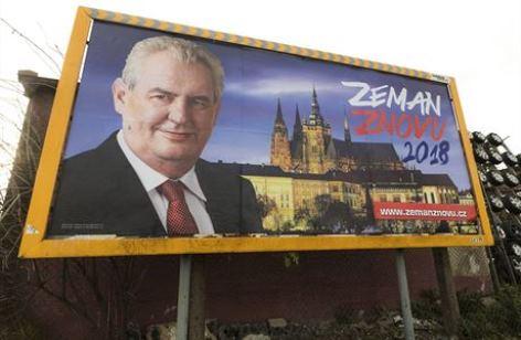 billboard prezidentského kadidáta Miloše Zemana | volby 2018