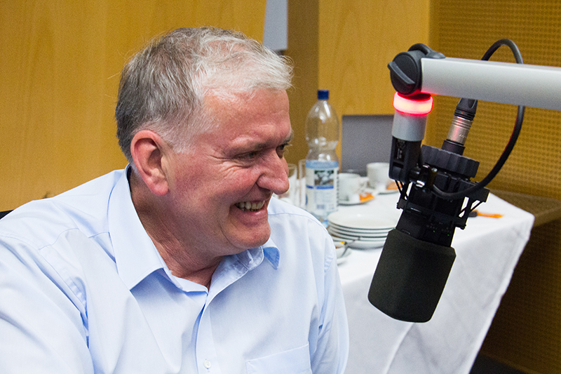 """Franz Schnabl im """"Radio Niederösterreich Wahlcafé"""""""
