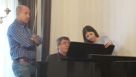 Tokody Ilona és Muskát András mesterkurzusa a Colegium Pázmáneumban.