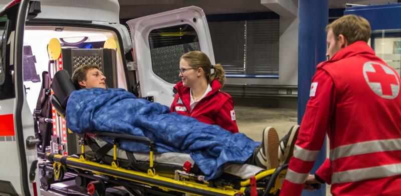 Krankentransport in Rettungsauto