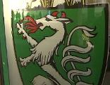 Burg Eingang steirischer Panther Wappen