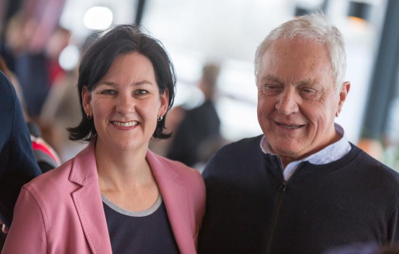 Andrea Haselwanter-Schneider und Fritz Dinkhauser beim Wahlkampfauftakt der Liste Fritz