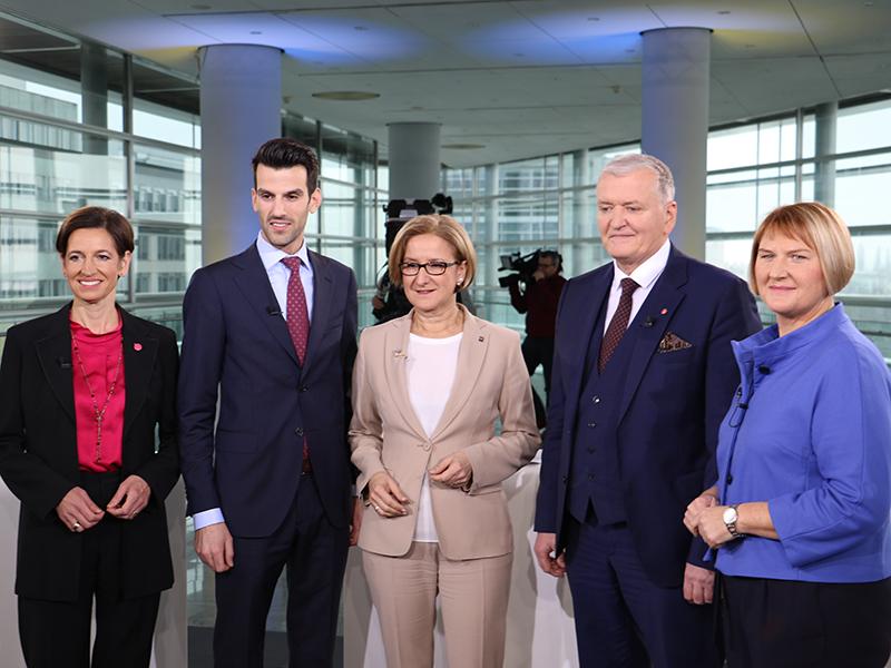 Landtagswahl Diskussion Spitzenkandidaten Gruppenfoto