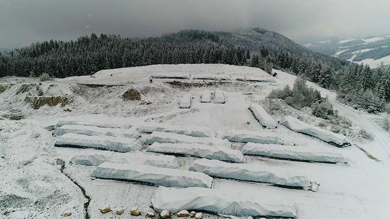 HCB Heuballen Winter