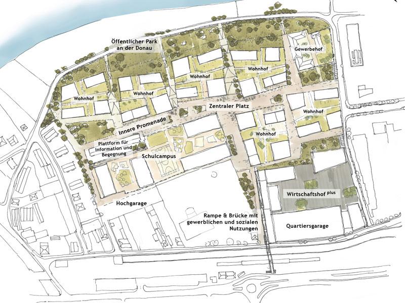 Plan neues Viertel Klosterneuburg