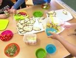 Küchenzeile NMS 10 St Peter gesunde Jause Ganztagesschule