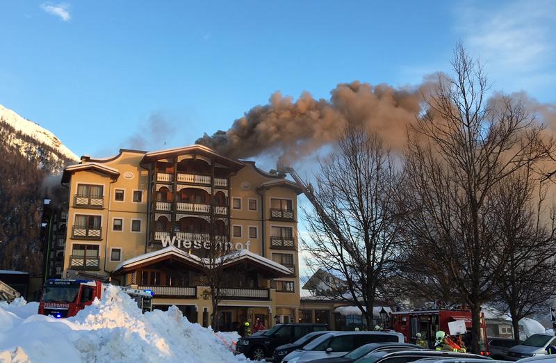 Brennendes Hotel