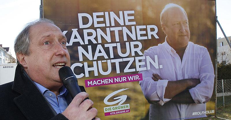 Grüne Landtagswahl Wahlkampf Präsentation Plakate