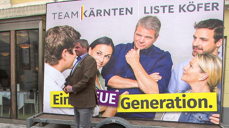 Team Kärnten Plakate Kandidaten Wahl 2018