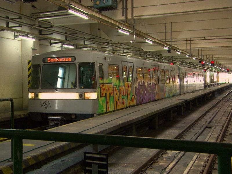 Graffiti auf Ubahn Zügen