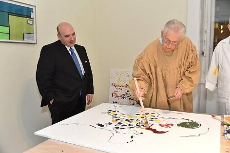 David Ungar-Klein und Mario Monti.