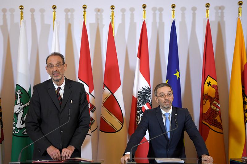 Minister Faßmann und Kickl