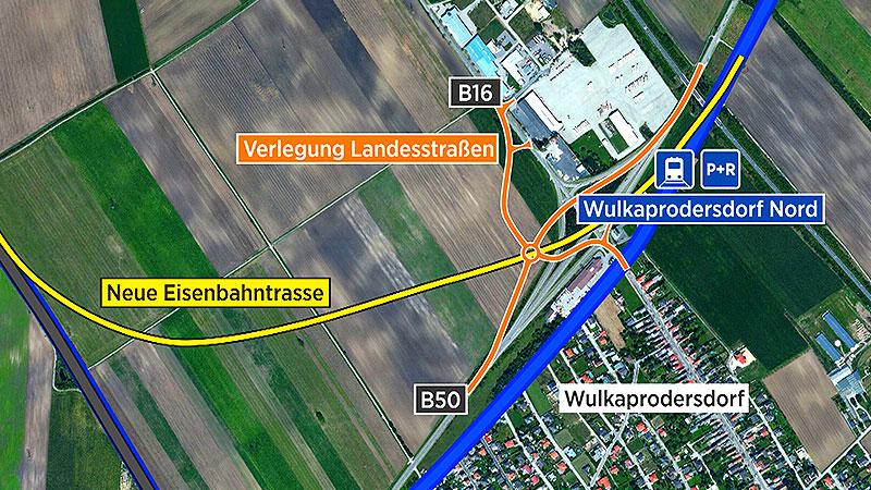 Grafik Bahnschleife Wulkaprodersdorf