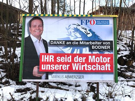 Wahlplakat Bodner