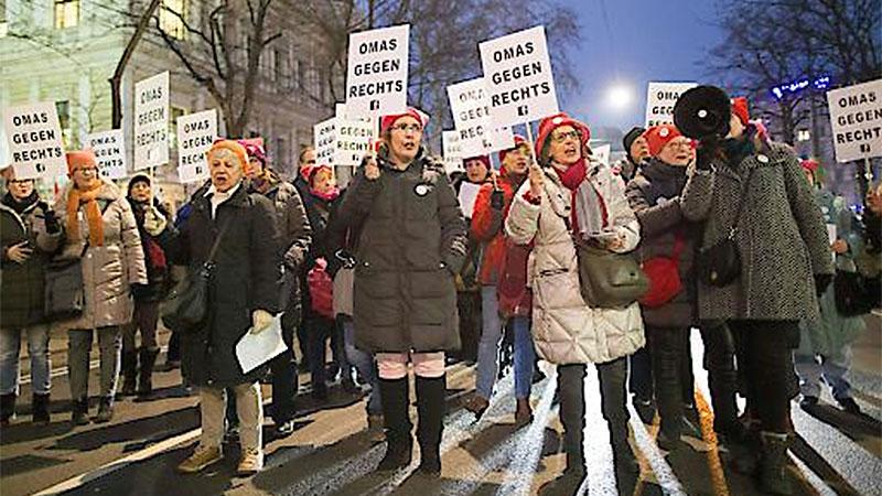 Demonstration anlässlich des Wiener Akademikerballs in Wien