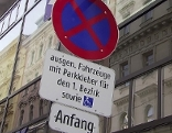 Tafel zu Anrainerparken in der Wiener Innenstadt