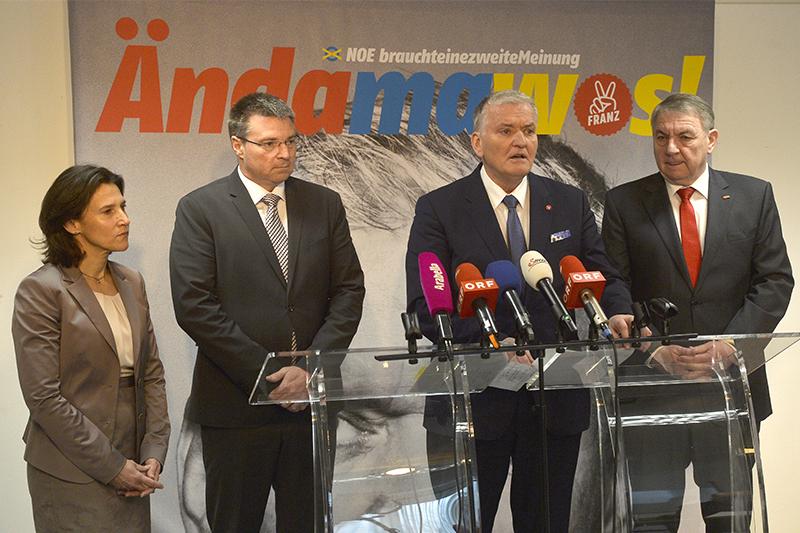 Astrid Reiser, Wolfgang Kocevar, Franz Schnabl und Reinhard Hundsmüller