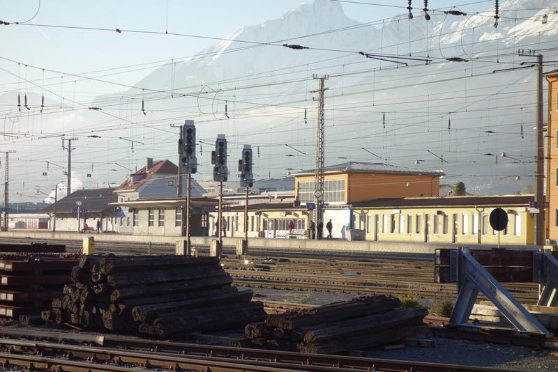 Umbauarbeiten im Bahnhof Hall