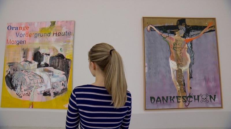Kippenberger-Bilder im Museion