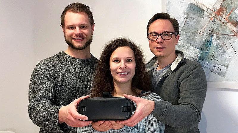 Johannes Lanzinger, Patricia Zaccarini und Christian Dingemann, Gründer von Phobius