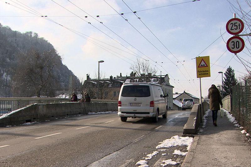 Eichstraßenbrücke über die Eisenbahn in Salzburg Gnigl