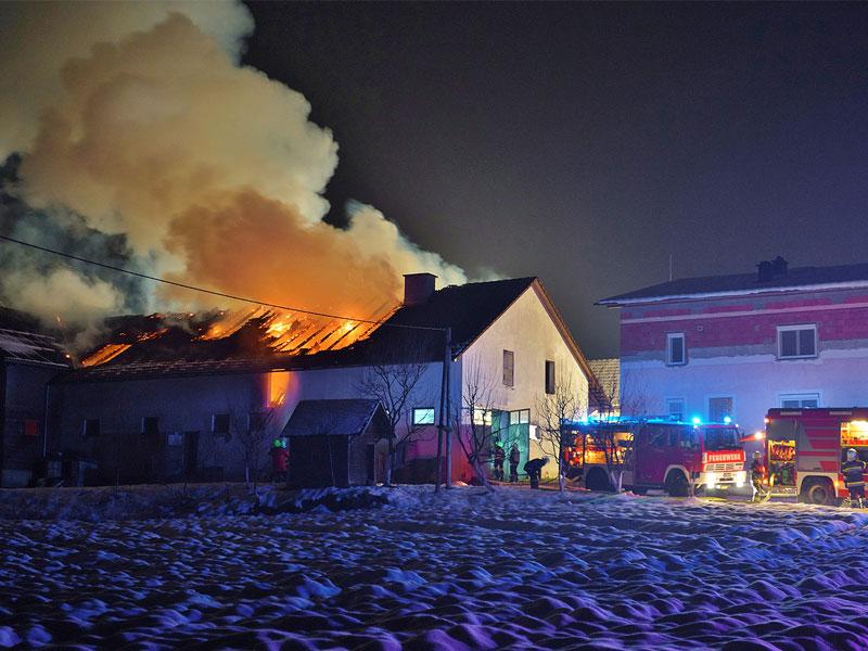 Wirtschaftsgebäudebrand St. Stefan im Rosental