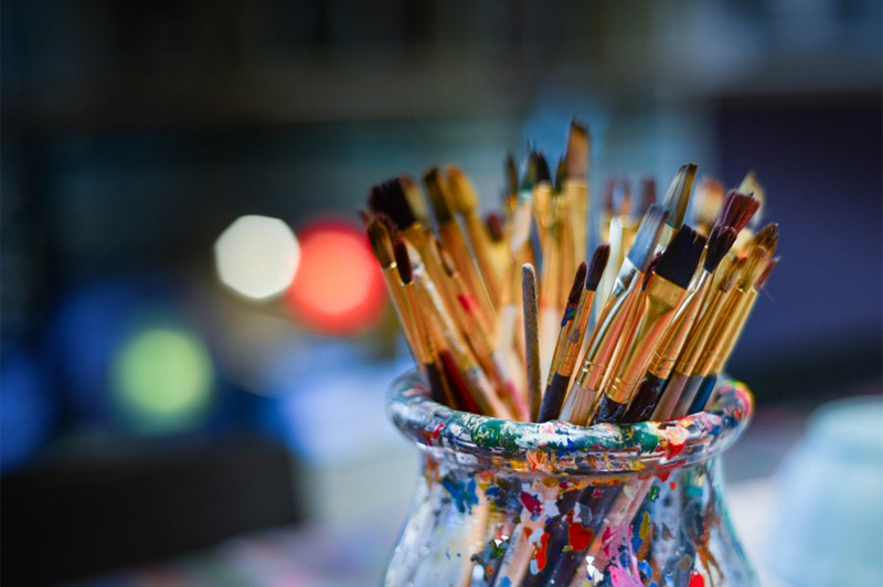 Künstler, Pinsel